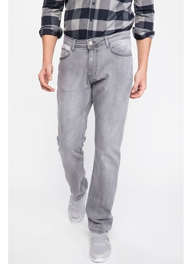DeFacto Diago Comfort Fit Denim Pantolon Gri